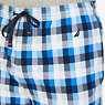 Plaid Sueded Jersey Pajama Pants,True Navy,small
