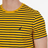 Striped Crew-Neck T-Shirt,Yellow,small