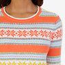 Snowflake Stripe Sweater,Icelantic Orange,small
