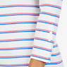 Boatneck Striped Top,Marshmallow,small