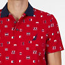Heavy Jersey Classic Fit Printed Polo,Nautica Red,small