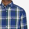 Big & Tall Long Sleeve Classic Fit Plaid Shirt,Estate Blue,small