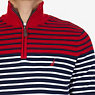 Striped Quarter Zip Pullover Sweater,Nautica Red,small