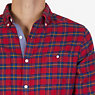 Classic Fit Plaid Flannel Shirt,Nautica Red,small