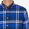 Casual Classic Fit Flannel Twill Plaid Button Down,Peacoat,small