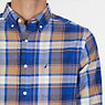 CLASSIC FIT  PLAID SHIRT,Dark Brown,small