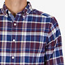 CLASSIC FIT  PLAID SHIRT,Royal Burgundy,small