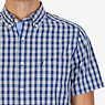 Classic Fit Checked Poplin Shirt,Bright White,small