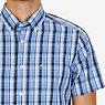 Classic Fit Sky Plaid Shirt,Blue,small