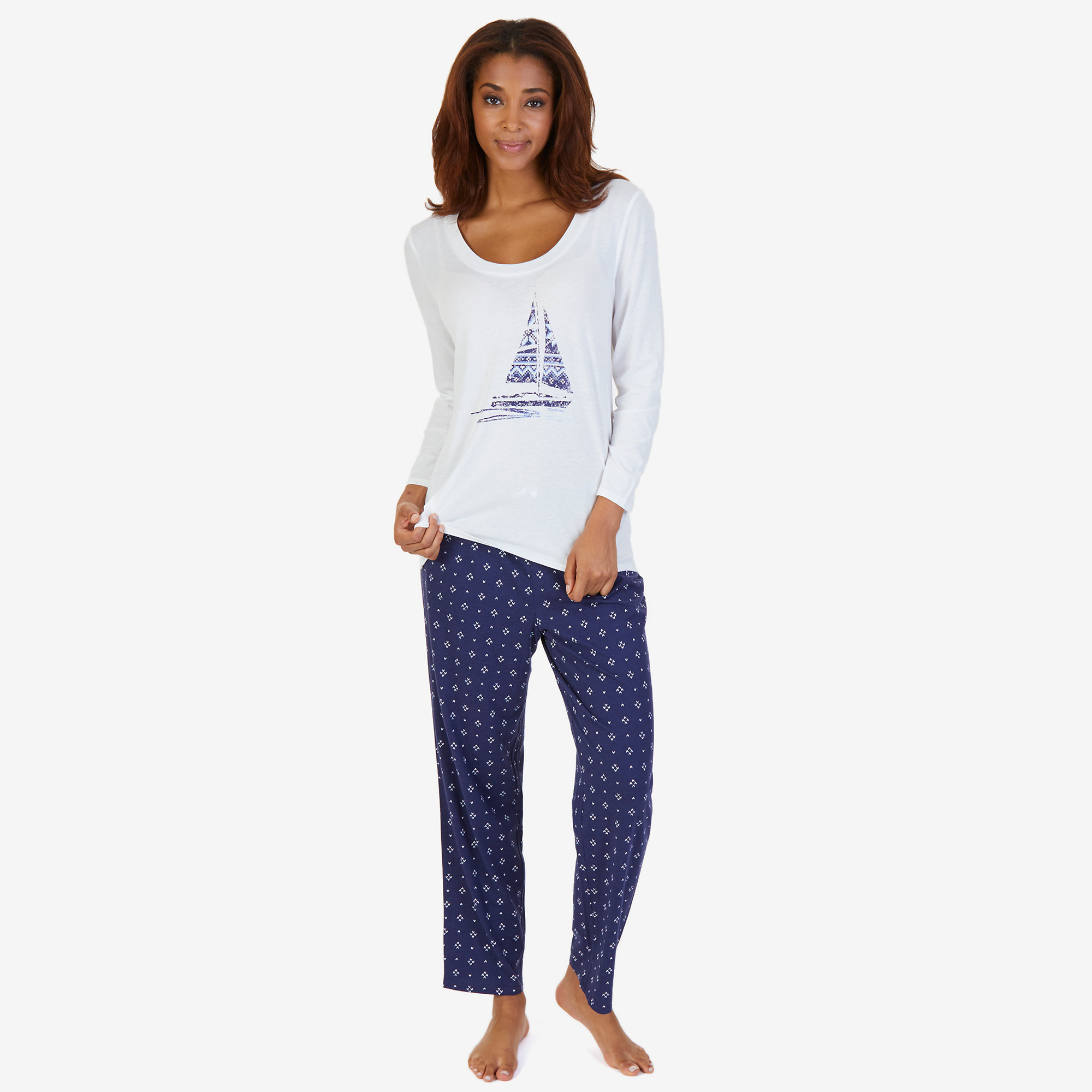 v comforter set printed tee pajama neck previous most comfortable nautica a pant pajamas sleep
