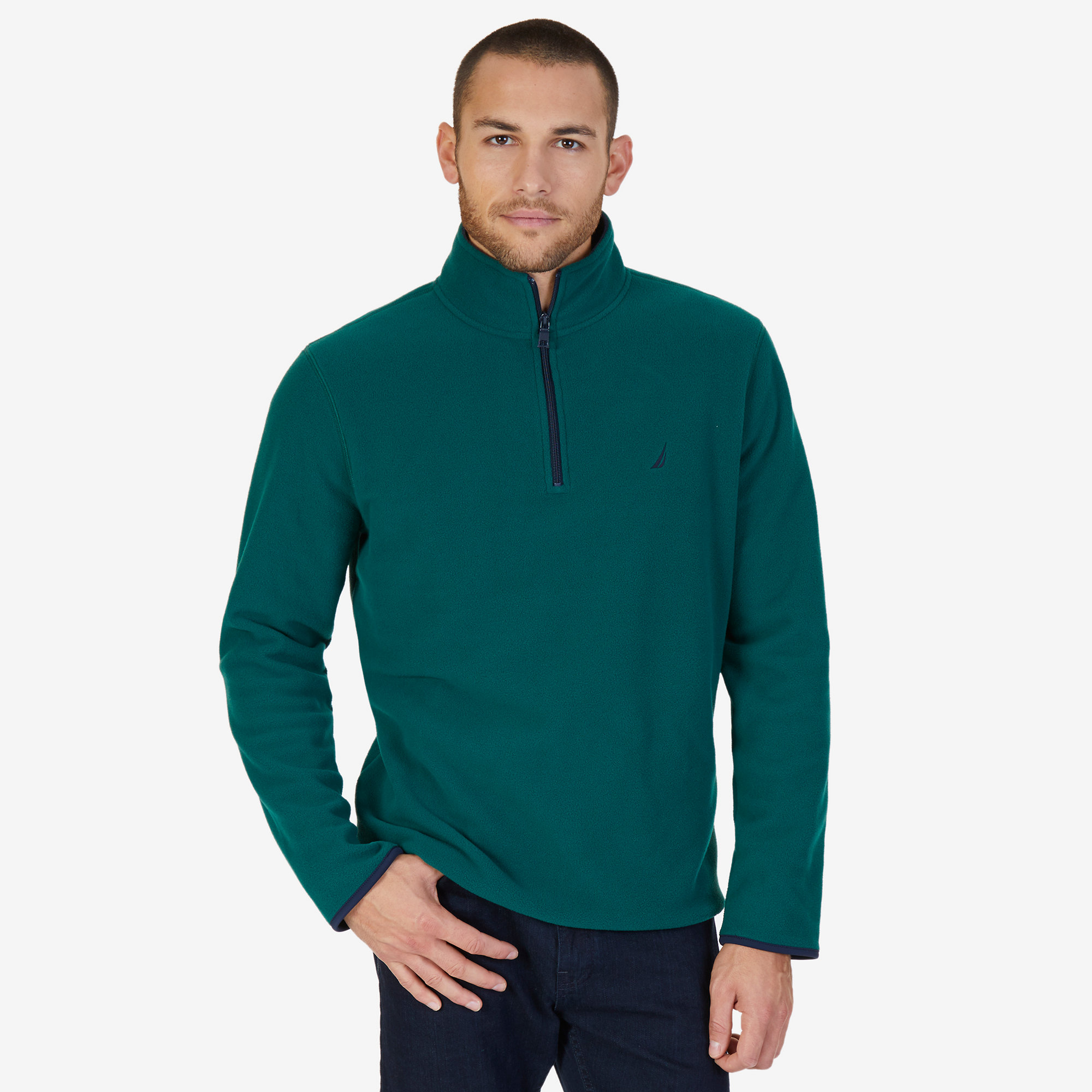 Nautica Mens Quarter Zip Nautex Fleece