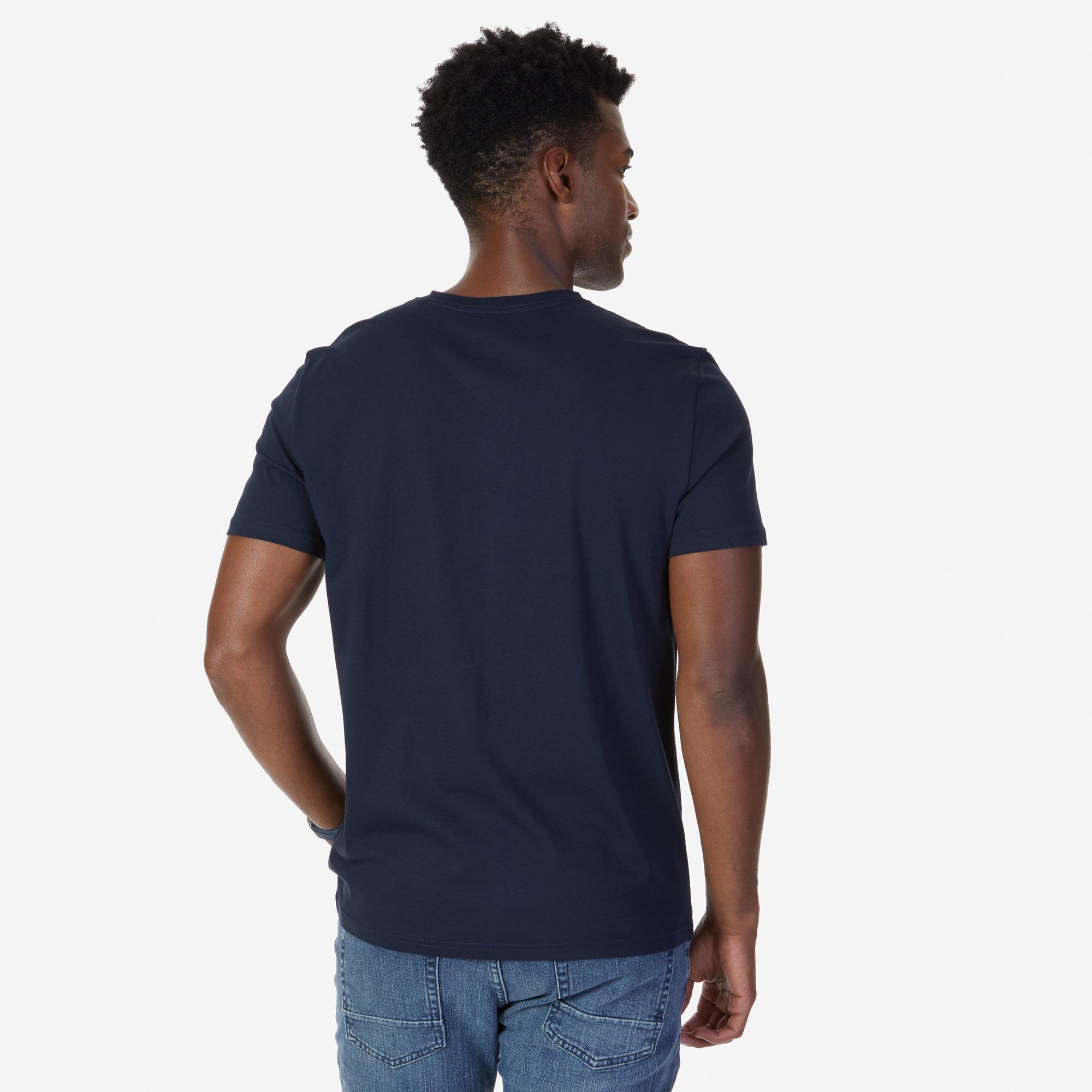 Solid V Neck Slim Fit T Shirt Nautica Kaos Polos Choco