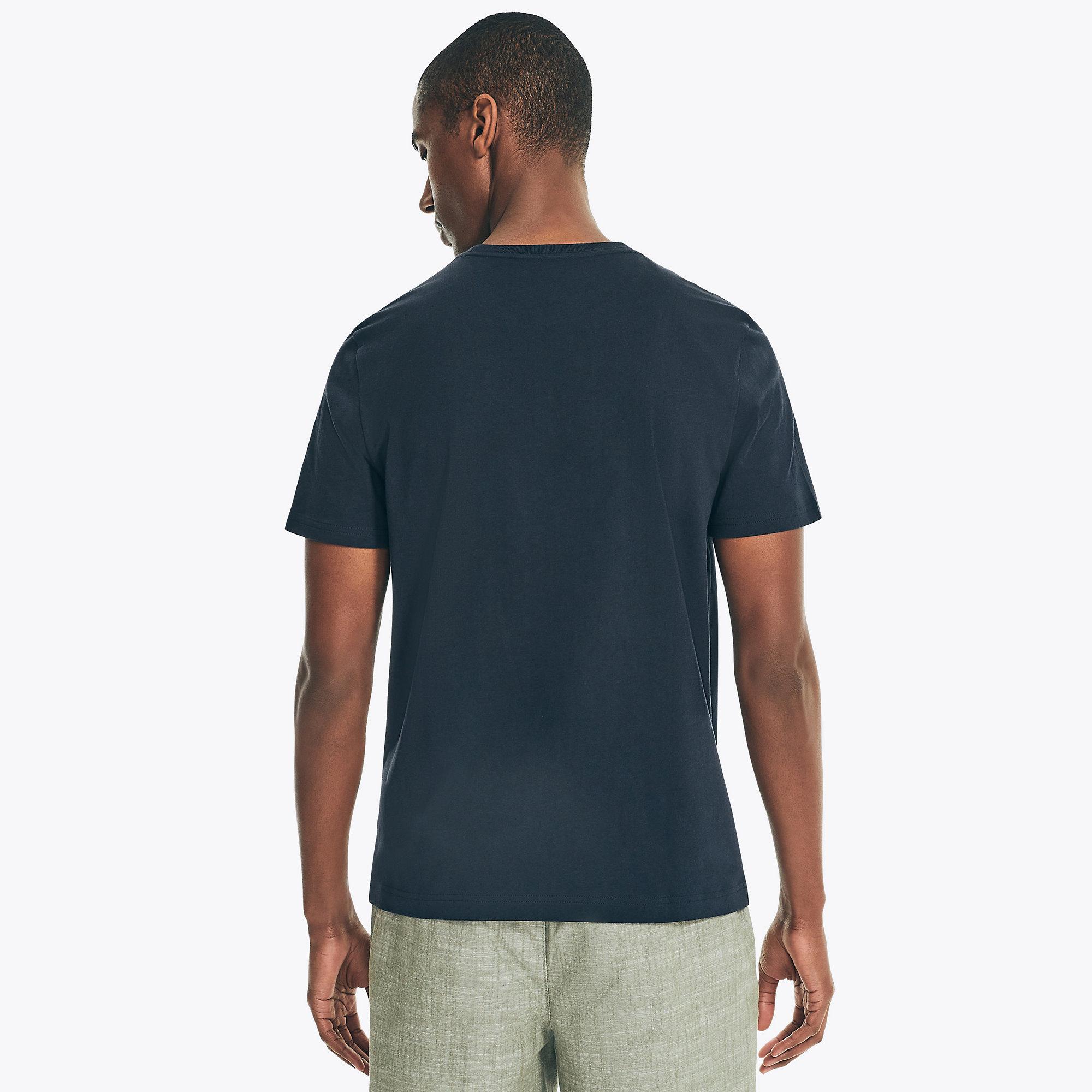 Nautica-Mens-Solid-Short-Sleeve-Crewneck-T-Shirt thumbnail 2