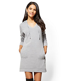 New York & Company Hoodie Sweatshirt Dress