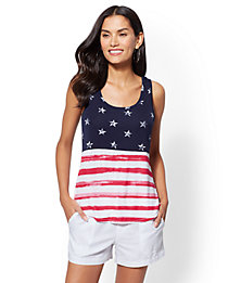 Soho Soft Tee Flag-Print Tank Top