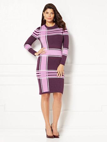 Purple Eva Mendes Dress