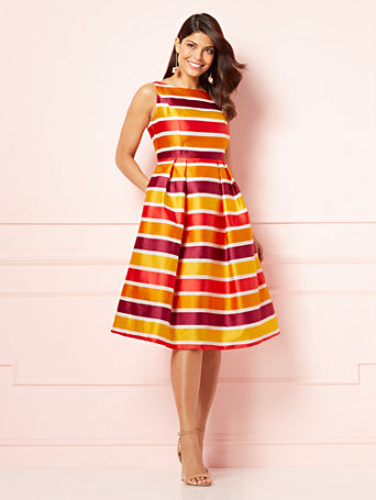 Ny Amp C Eva Mendes Collection Striped Felicity Dress