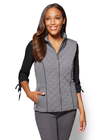 The Park Avenue Quilted Vest in 5 Colors