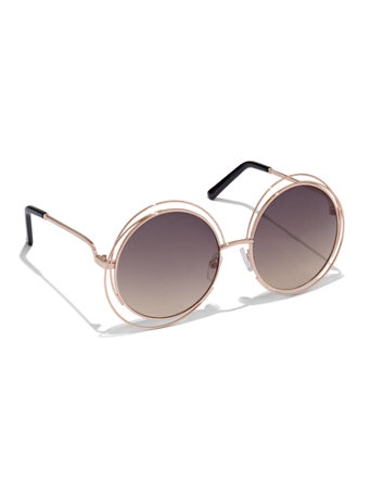 NY&C: Wire-Frame Round Sunglasses