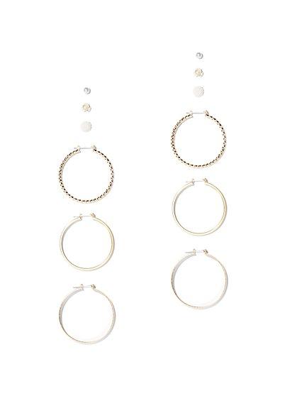 6-Piece Goldtone Post & Hoop Earring Set - New York & Company