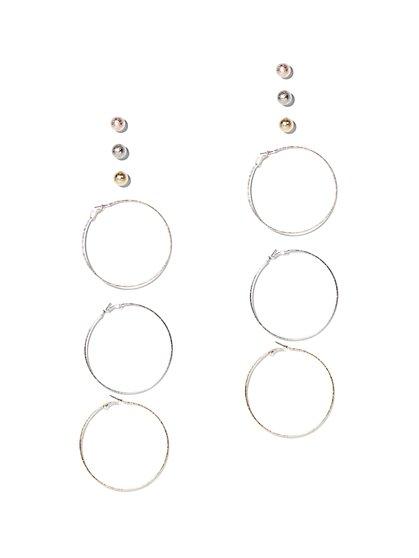 6-Piece Hoop & Post Earring Set - New York & Company
