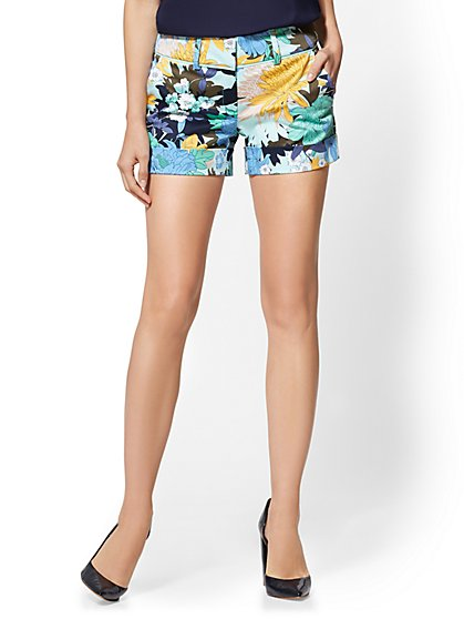 7th Avenue 4 Inch Floral Short - Signature - New York & Company