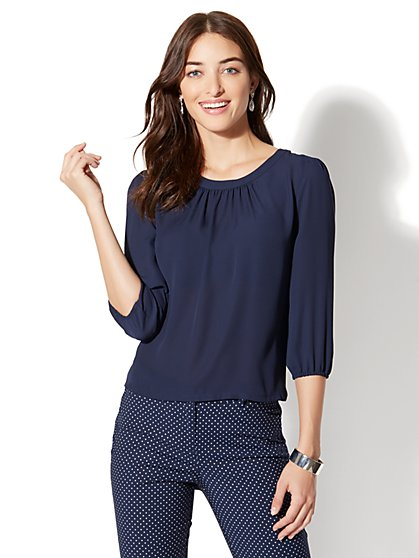 7th Avenue - Back-Button Blouse - New York & Company
