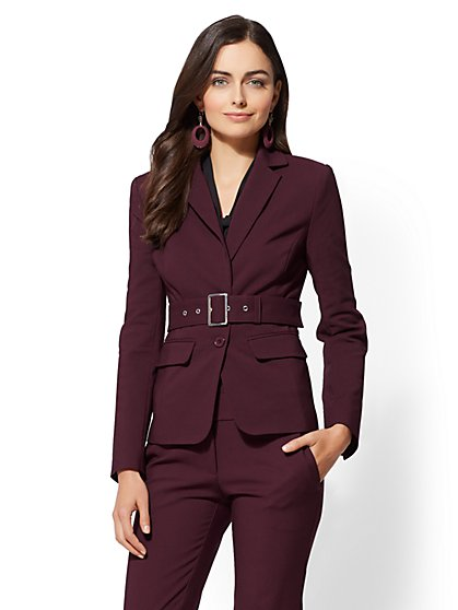 7th Avenue - Belted 2-Button Jacket - All-Season Stretch - New York & Company