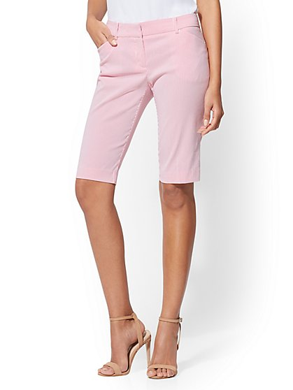 7th Avenue Bermuda Short - Pink Stripe - New York & Company