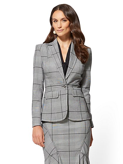 7th Avenue - Black & White Plaid Jacket - New York & Company