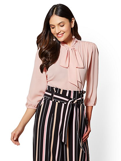 7th Avenue - Bow-Accent Blouse - New York & Company