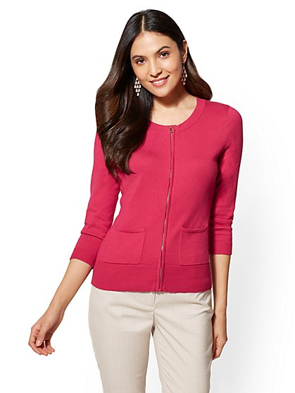7th Avenue - Chelsea Zip-Front Cardigan - New York & Company