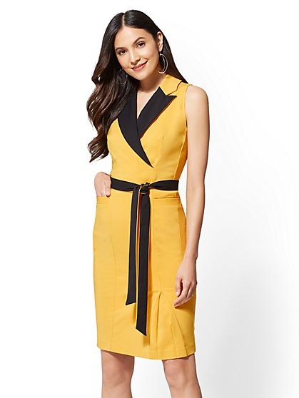 7th Avenue - Colorblock Sheath Dress - New York & Company