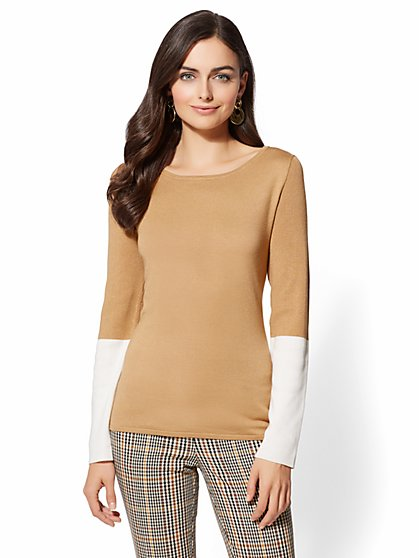 7th Avenue - Colorblock Sweater - New York & Company
