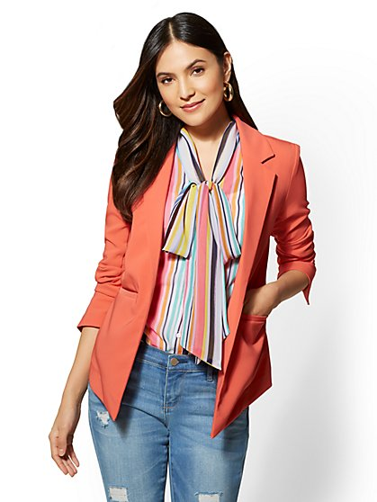 7th Avenue - Coral Open-Front Jacket - New York & Company