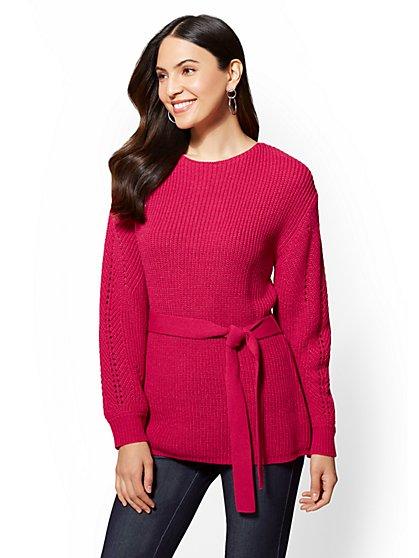 7th Avenue - Crewneck Tunic Sweater - New York & Company