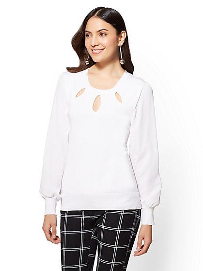 7th Avenue - Cutout Sweater - New York & Company