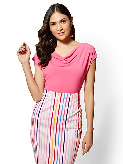 7th Avenue - Draped & Ruched Top - New York & Company