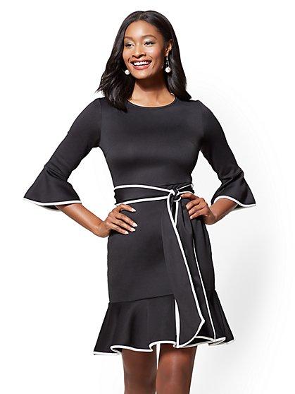 7th Avenue - Flounced Sheath Dress - New York & Company