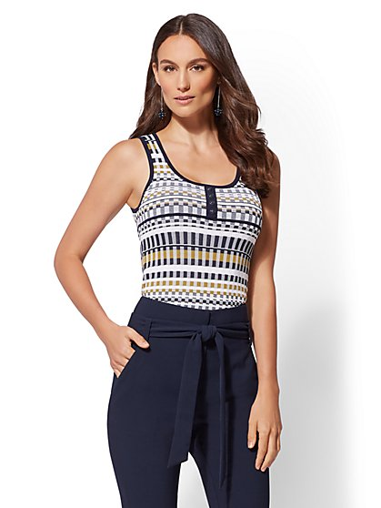 7th Avenue - Henley Sweater Tank Top - New York & Company