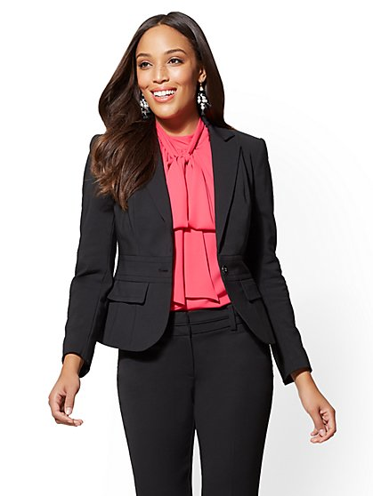 7th Avenue Jacket - One-Button - Modern - All-Season Stretch - New York & Company