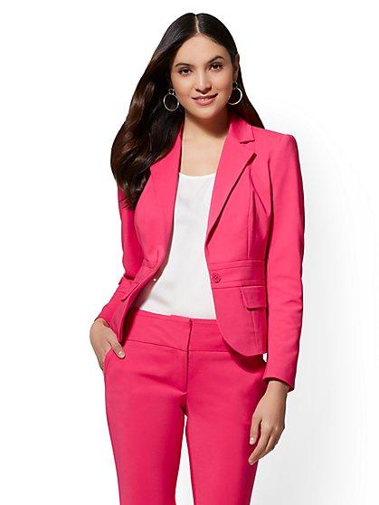 7th Avenue Jacket - One-Button - Modern - All-Season Stretch - New York & Company