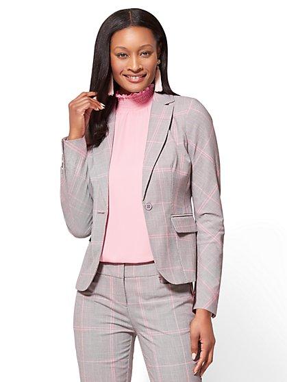 7th Avenue Jacket - One-Button - Modern - Plaid - New York & Company