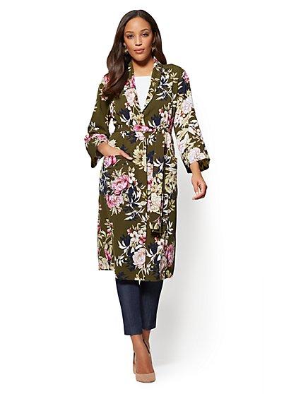 7th Avenue - Kimono Robe - Floral - New York & Company