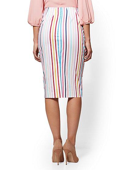 ... 7th Avenue - Multicolor Striped Pencil Skirt - New York & Company ...