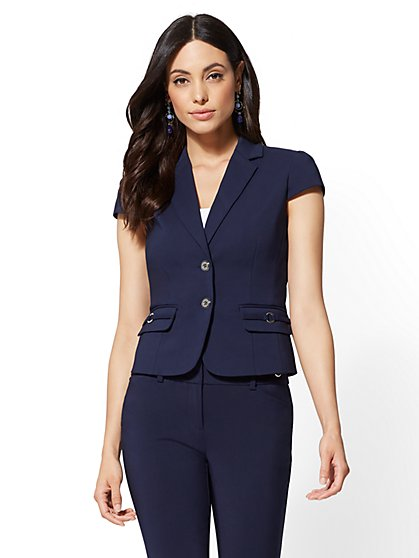 7th Avenue - Navy Two-Button Jacket - New York & Company