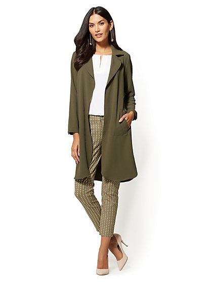 7th Avenue - Open-Front Long Jacket - New York & Company