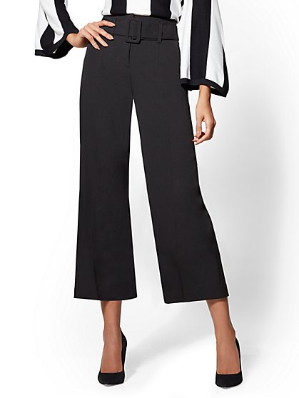 7th Avenue Pant - Belted Culotte - New York & Company