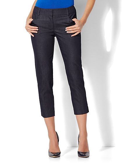 7th Avenue Pant - Crop Straight Leg - Signature - Hidden Blue - New York & Company