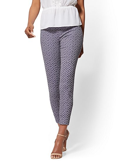 7th Avenue Pant - High-Waist Pull-On Crop - New York & Company